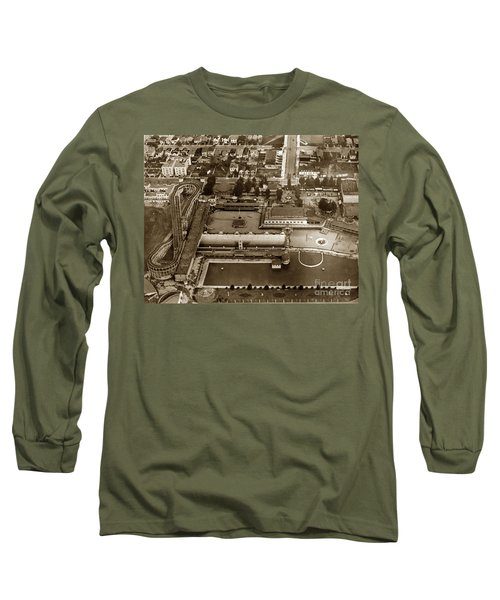 Neptune Beach Olympic Size Swimming Pool And A Roller Coaster Alameda Circa 1920 Long Sleeve T-Shirt