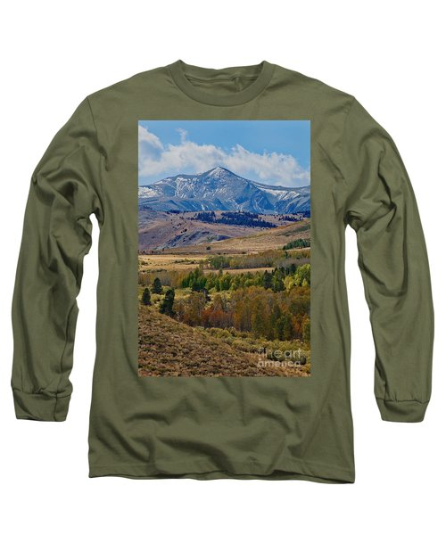 Long Sleeve T-Shirt featuring the photograph  Sierras Mountains by Mae Wertz