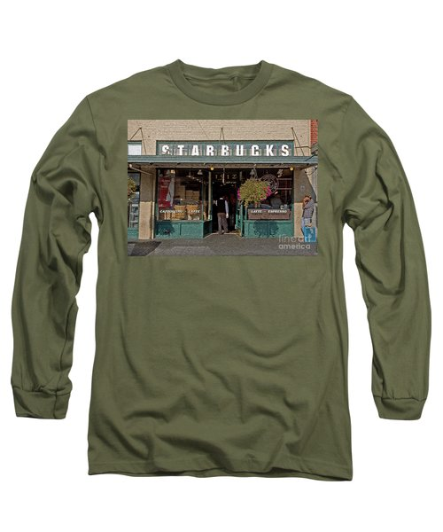 0370 First Starbucks Long Sleeve T-Shirt