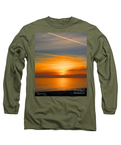 A Walk At Sunset Long Sleeve T-Shirt