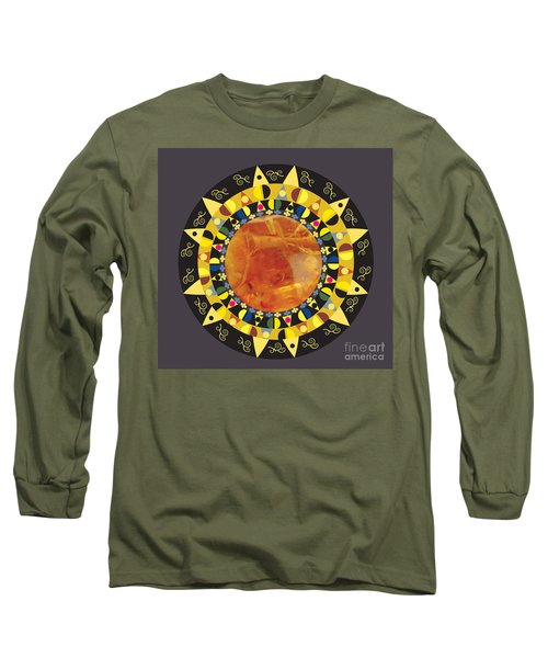 Amber Mandala Long Sleeve T-Shirt by Kim Prowse