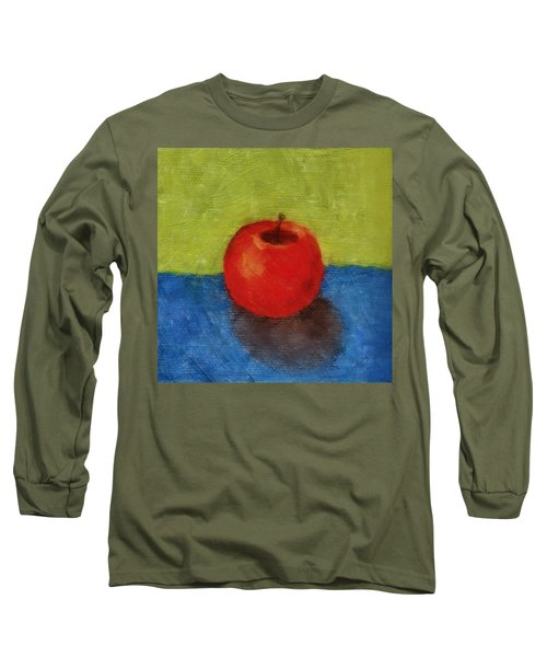 Apple With Green And Blue Long Sleeve T-Shirt