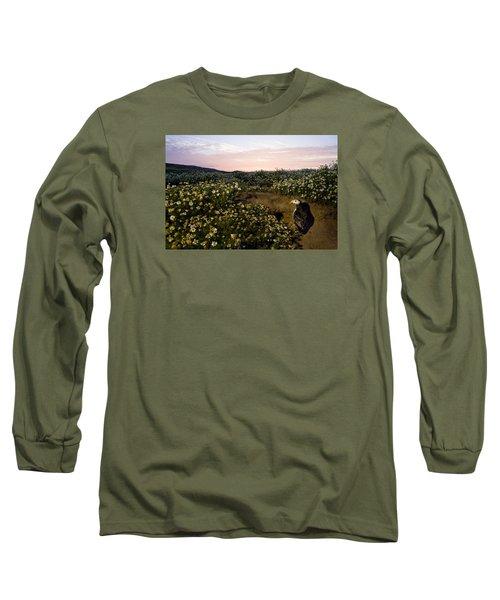 Atlantic Puffin At Burrow Skomer Island Long Sleeve T-Shirt