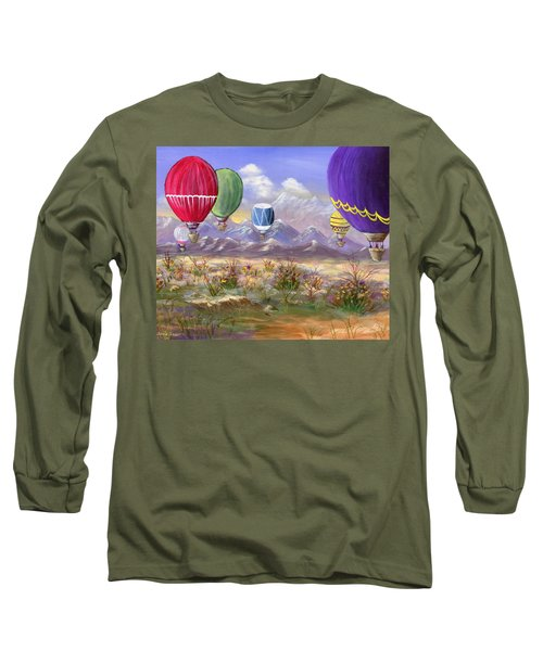 Long Sleeve T-Shirt featuring the painting Balloons by Jamie Frier