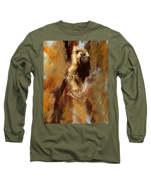 Abstract Belly Dancer 17 Long Sleeve T-Shirt