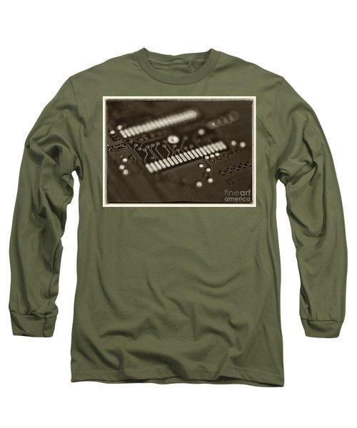 Blue Hard Drive Long Sleeve T-Shirt
