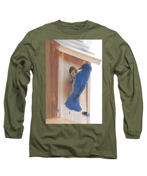 Bluebird Of Happiness Long Sleeve T-Shirt