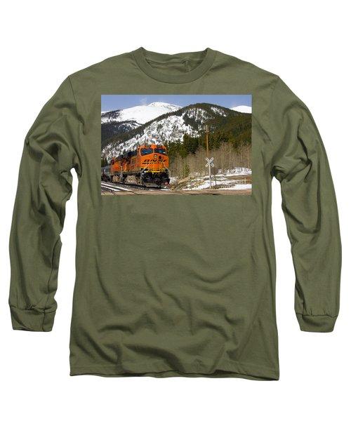 Bnsf Rolls Through Rollins Pass Colorado Long Sleeve T-Shirt
