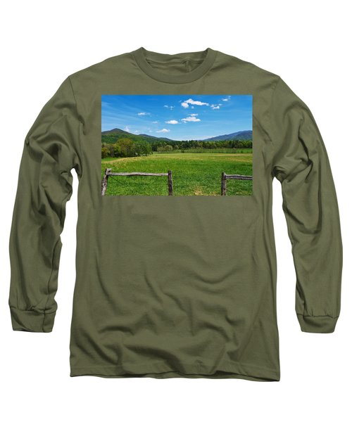 Cades Cove Long Sleeve T-Shirt by Melinda Fawver