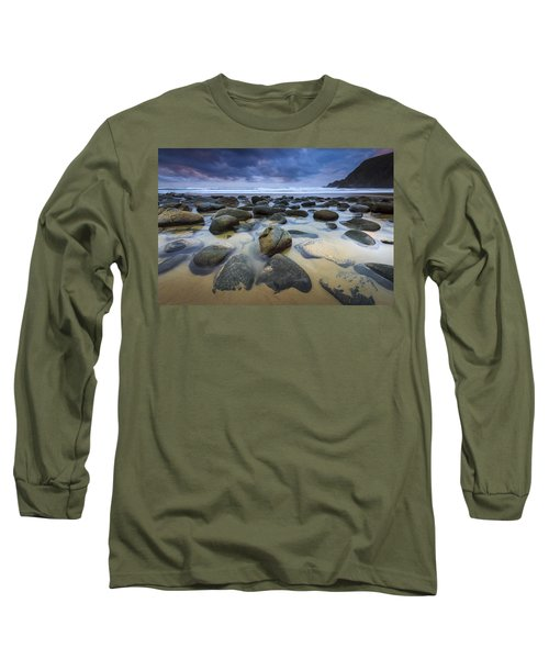 Campelo Beach Galicia Spain Long Sleeve T-Shirt by Pablo Avanzini