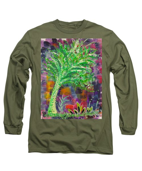 Long Sleeve T-Shirt featuring the painting Celery Tree by Holly Carmichael