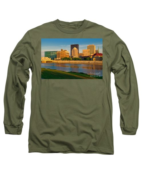 D4u-379 Dayton Skyline Photo Long Sleeve T-Shirt