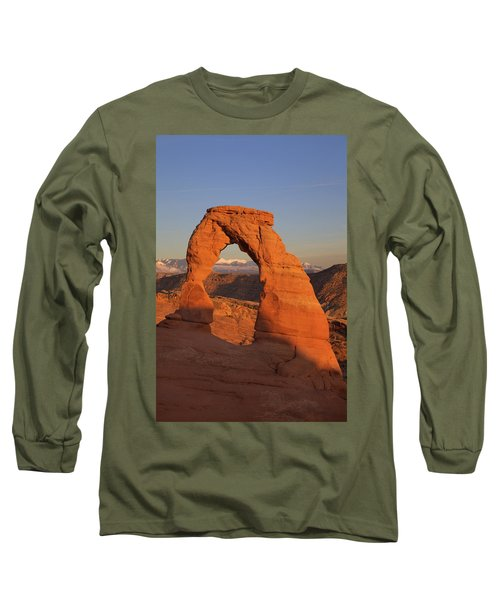 Delicate Arch At Sunset Long Sleeve T-Shirt