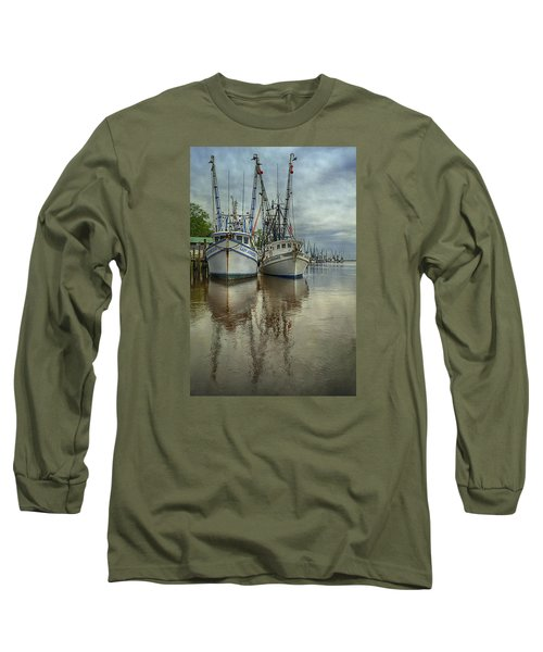 Long Sleeve T-Shirt featuring the photograph Docked by Priscilla Burgers