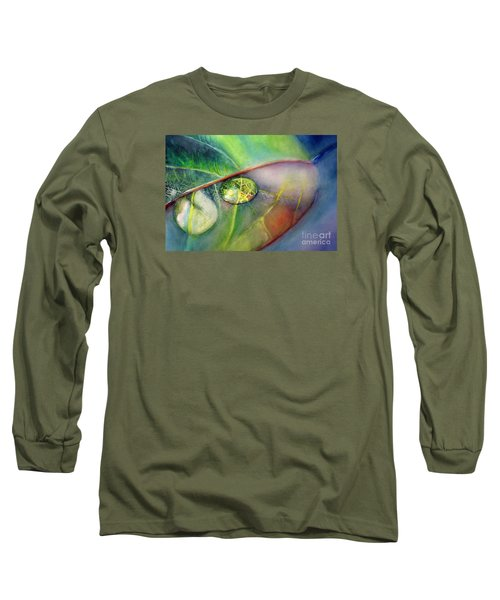 Long Sleeve T-Shirt featuring the painting Drops by Allison Ashton