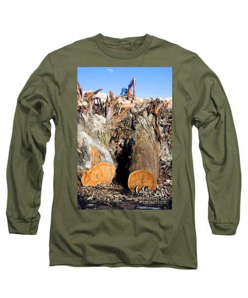 Environmental Destruction In Construction  Long Sleeve T-Shirt