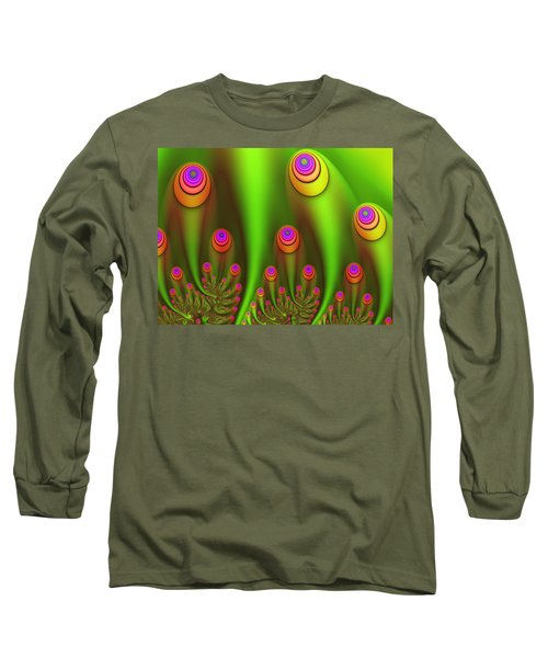 Fractal Fantasy Garden Long Sleeve T-Shirt