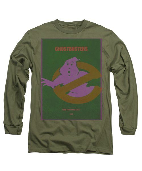 Long Sleeve T-Shirt featuring the digital art Ghostbusters Movie Poster by Brian Reaves