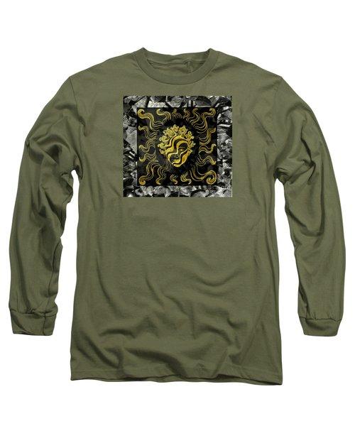 Golden God Long Sleeve T-Shirt by Nareeta Martin