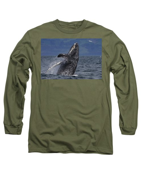 Humpback Whale Breaching Prince William Long Sleeve T-Shirt