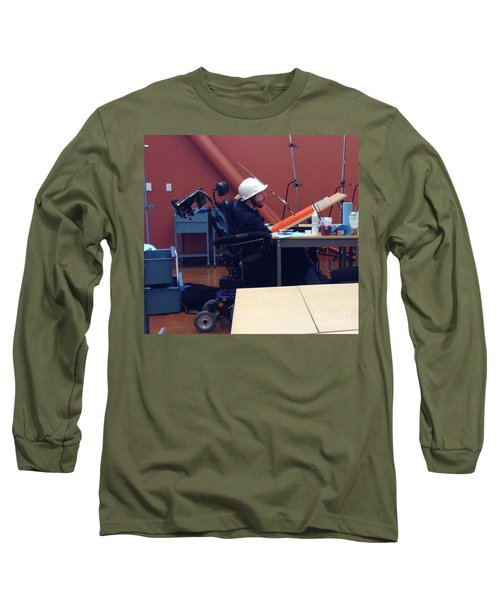 Long Sleeve T-Shirt featuring the photograph In Studio by Donald J Ryker III