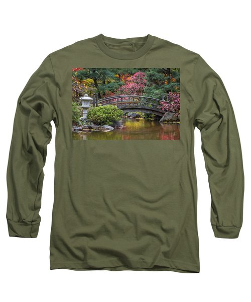 Japanese Bridge Long Sleeve T-Shirt by Sebastian Musial