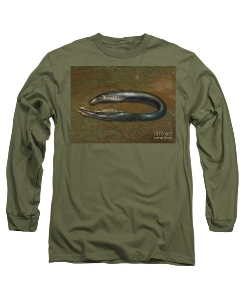 Lamprey Eel, Illustration Long Sleeve T-Shirt