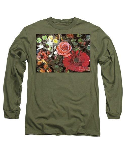 Long Sleeve T-Shirt featuring the digital art Lancaster Flowers by Joseph J Stevens