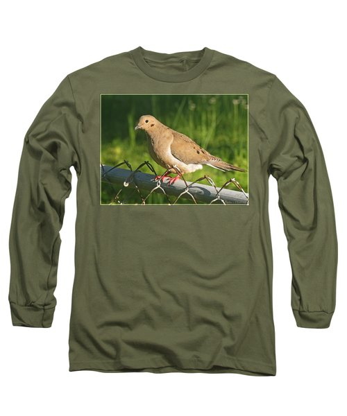 Morning Dove I Long Sleeve T-Shirt by Debbie Portwood