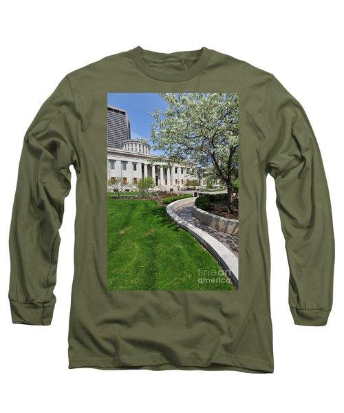 D13l-145 Ohio Statehouse Photo Long Sleeve T-Shirt