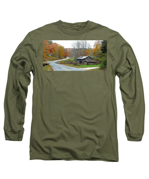 Old Barn Along Slick Fisher Road Long Sleeve T-Shirt