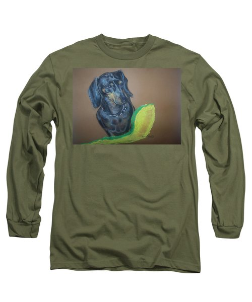 Ozzie Dashound Long Sleeve T-Shirt by Peter Suhocke