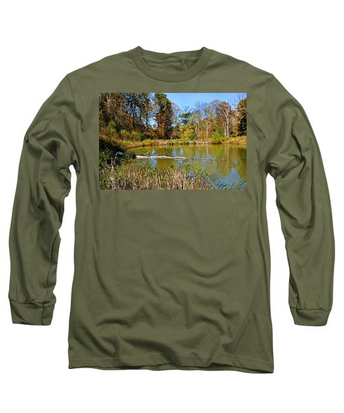 Peaceful Place Long Sleeve T-Shirt by Kristin Elmquist
