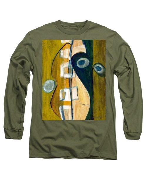Portrait Of A Humble Man Long Sleeve T-Shirt