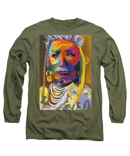 Proud Native American II Long Sleeve T-Shirt by Stephen Anderson
