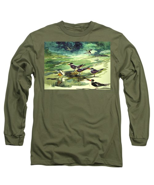 Royal Terns And Black Skimmers Long Sleeve T-Shirt