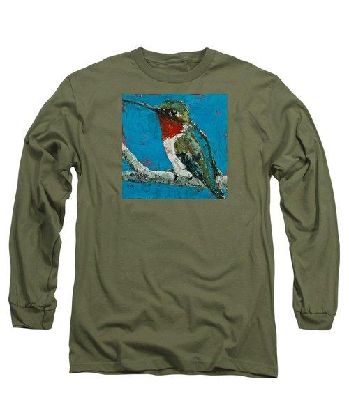 Ruby-throated Hummingbird Long Sleeve T-Shirt by Jani Freimann