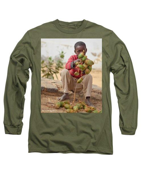 Long Sleeve T-Shirt featuring the photograph Somewhere Else On Goree Island  by Stwayne Keubrick