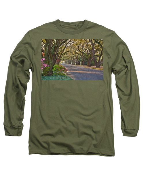 South Boundary In Spring Long Sleeve T-Shirt