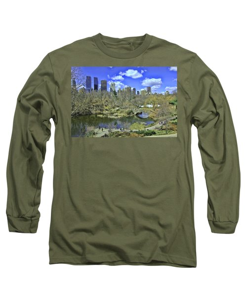 Springtime In Central Park Long Sleeve T-Shirt by Allen Beatty