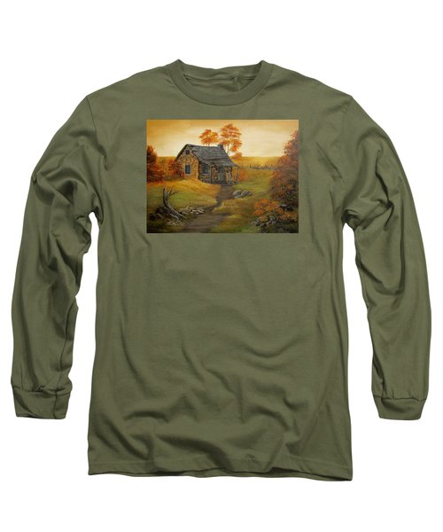 Stone Cabin Long Sleeve T-Shirt by Kathy Sheeran