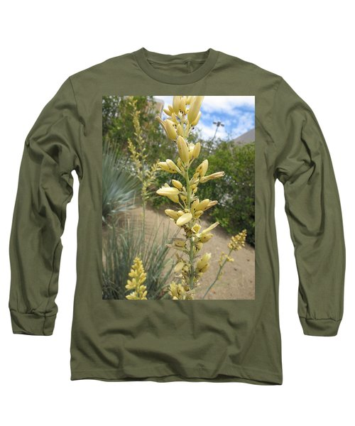 Long Sleeve T-Shirt featuring the photograph 1 String Flowers    Photographed Las Vegas May 2014 by Navin Joshi