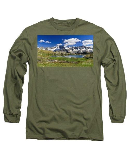 Long Sleeve T-Shirt featuring the photograph Strino Lake - Italy by Antonio Scarpi