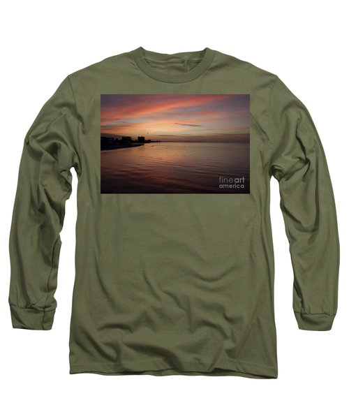 Long Sleeve T-Shirt featuring the photograph Sunrise Over Fort Myers Beach Photo by Meg Rousher