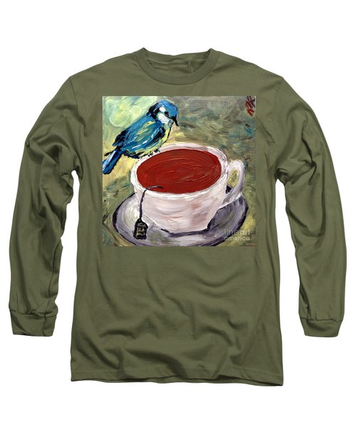 Tea Time  Long Sleeve T-Shirt by Reina Resto