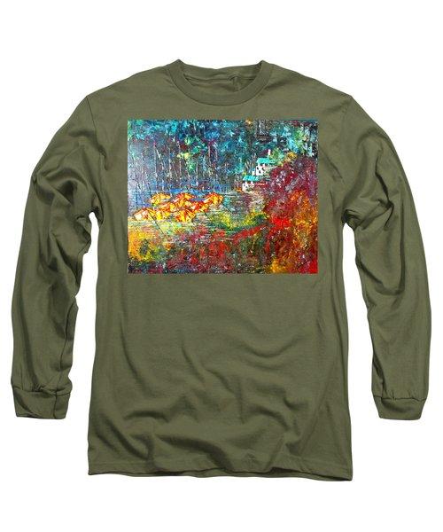 Beach House Long Sleeve T-Shirt by George Riney
