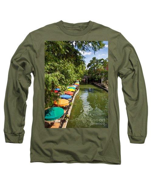 The River Walk Long Sleeve T-Shirt by Erika Weber