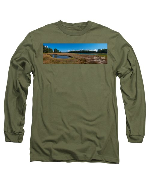Thompson Island In Maine Panorama Long Sleeve T-Shirt