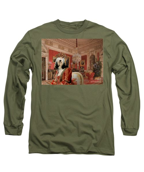 Tibetan Terrier Art Canvas Print Long Sleeve T-Shirt