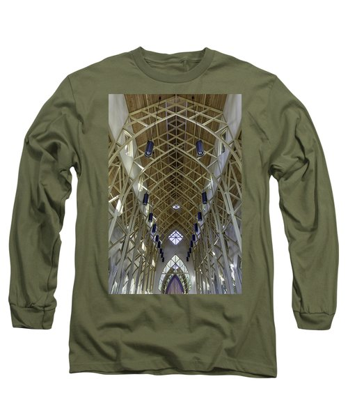 Trussed Arches Of Uf Chapel Long Sleeve T-Shirt by Lynn Palmer
